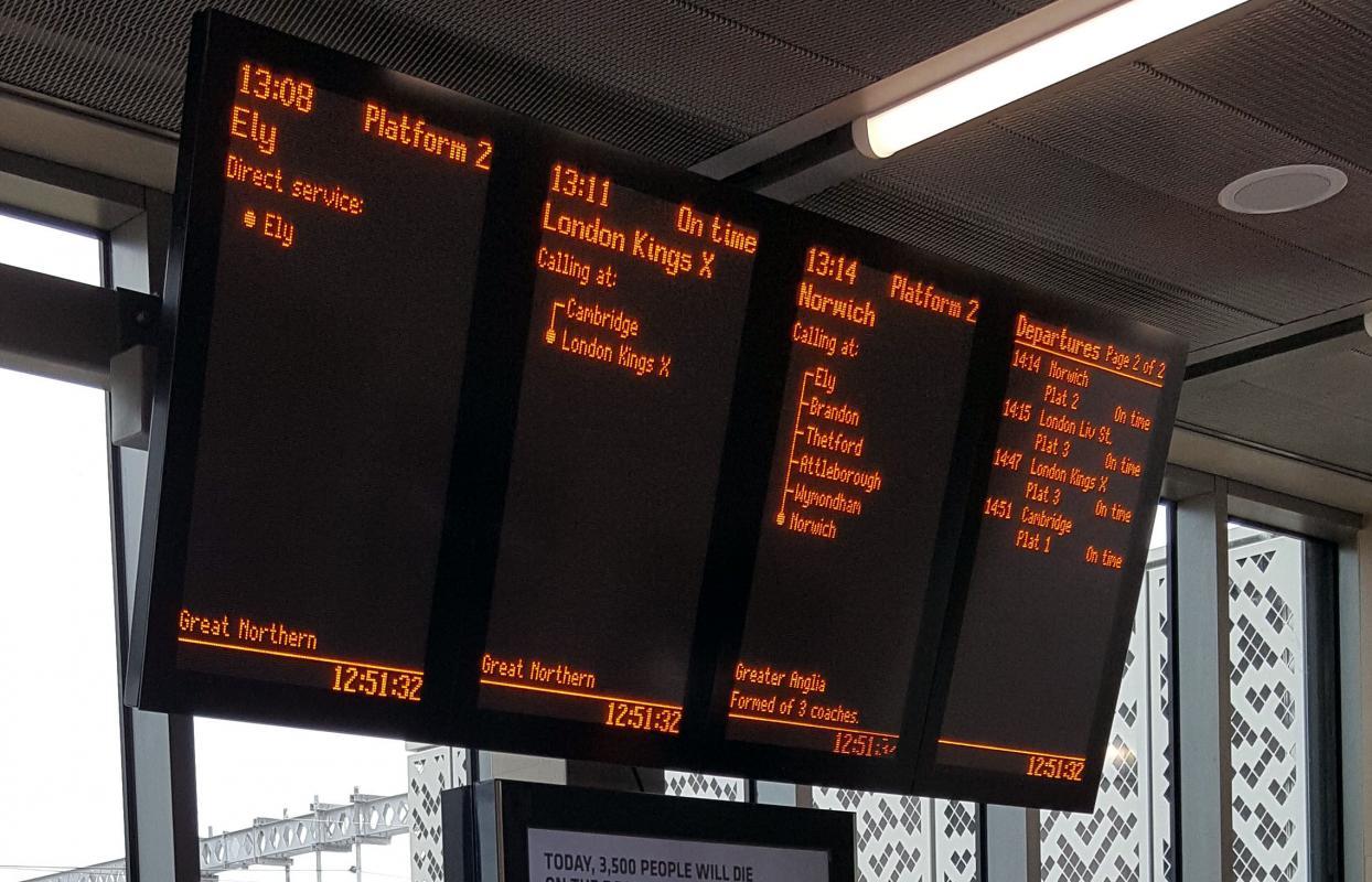 Full-matrix displays for Cambridge North